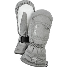 Hestra CZone Powder Mittens Women, light grey/off-white